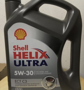 Масло Shell Ultra ECT RUS 5W30 4 л оригинальное
