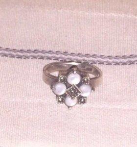 Кольцо серебро 16,5