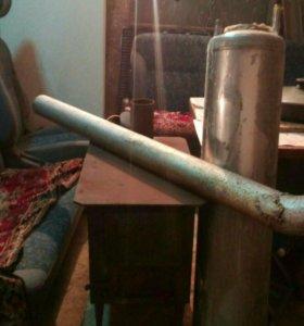 Печка c трубой и ресивером