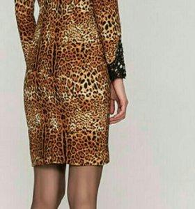 Платье леопард 48 р
