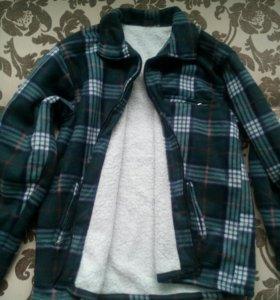 Рубашка теплая как куртка