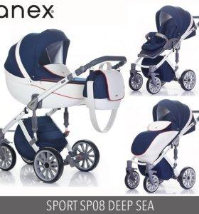 Anex sport 3 в 1 новая коляска