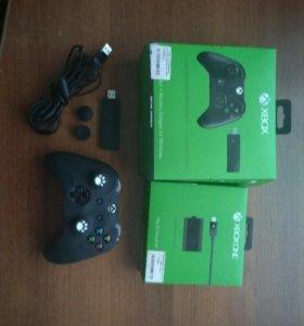 Геймпад Xbox One + аккумулятор + аксессуары