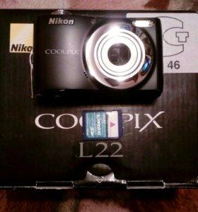 Цифровик. Nikon Coollprix L22