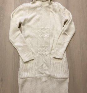 Платье шерстяное вязанное