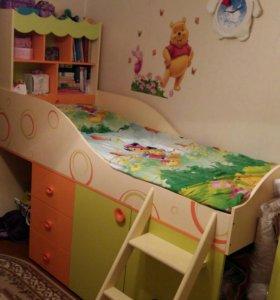 Фруттис кровать-чердак и шкаф