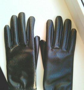 Перчатки кож.заменитель
