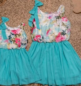 Платье Мама+дочка, 42 - 44 и 130 см.