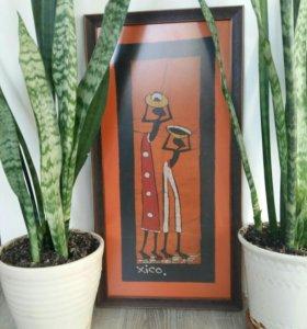 Картина в багете. Этно. Мозамбик.