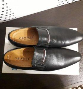 Кожанные мужские туфли