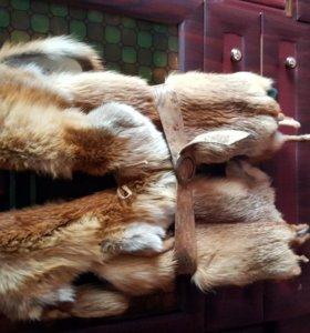Жилетка+шарф+сумка+варежки набор из меха лисы