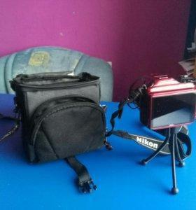 Фотоаппарат nikon сумка и штатив