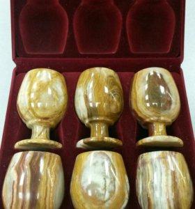 Рюмки (фужеры) из камня Оникс