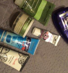 Крема и спрей для волос пакетом