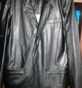 Кожанный мужской пиджак
