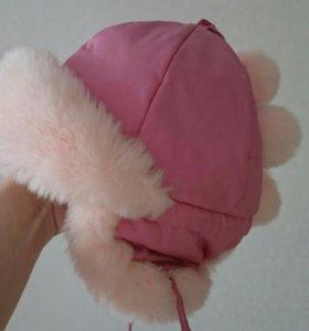 Зимняя шапка на 2-3 года