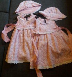 платья нарядные для двойни летние