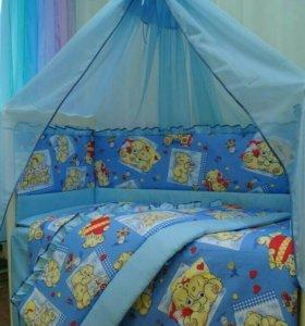 Красивый комплект для новорожденного в кроватку!