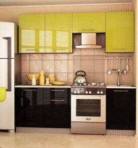 """Кухня """"Дюна"""" зеленая"""
