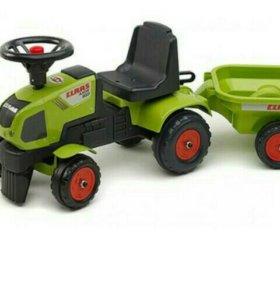 Трактор каталка с прицепом Claas Ax