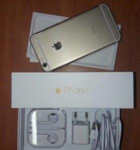 Iphone gold 6/64 +чехол и зашитное стекло!(срочьно