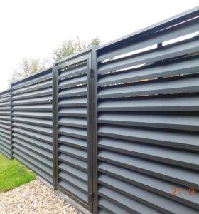 Забор-жалюзи металлический