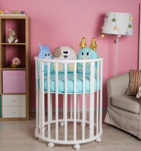 Детские кроватки 7 в 1 (массив бука)