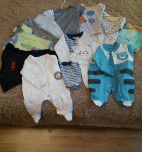 Вещи на мальчика от 0 до 3 месяцев