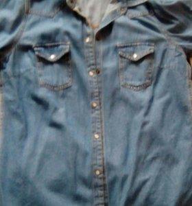 Рубашка женская(джинс)