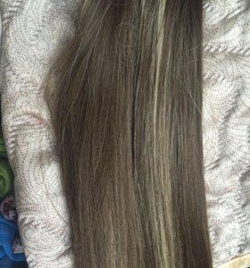 Новые Волосы на заколках накладные пряди