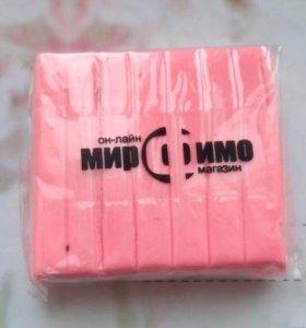 Розовая полимерная глина 50 г