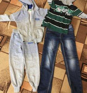 Костюм спортивный 500 р, джинсы 500 р, толстовка