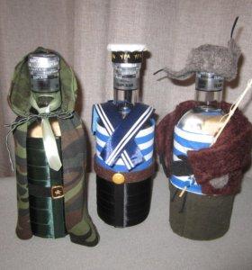 Декорирование, упаковка бутылок