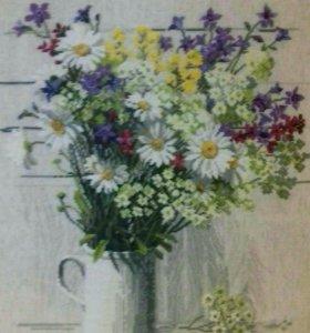 "Вышитая картина ""Луговые цветы"""