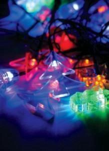 Гирлянда RGB Новогодний микс (снеговик, дед мороз)
