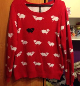 Двойной свитер с оригинальным принтом
