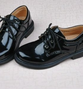 Ботинки мужские кожаные лакированые