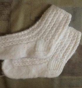 Пуховые ажурные носки