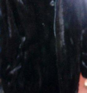 Черная Норковая мужская шуба