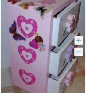 Шкафчик игрушечный