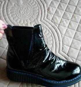 Ботинки женские ( натуральная кожа, байка ) размер