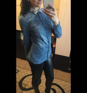 Кожаные брюки и рубашка