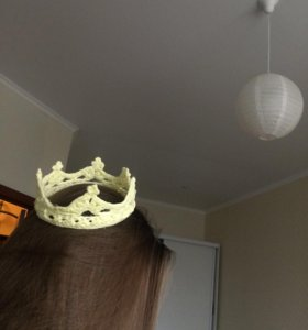 Корона вязанная Новая