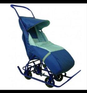 Санки коляска ( новые) цвет не такой как на фото