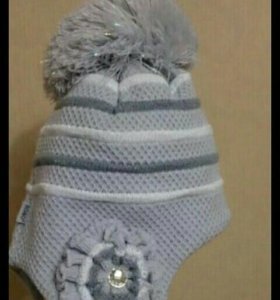 Новая шапка с шарфом
