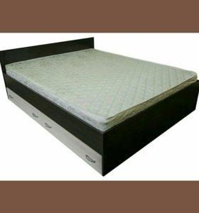 Кровать с выдвижными ящиками и матрасом новая