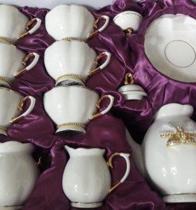 Чайный форфоровый сервиз