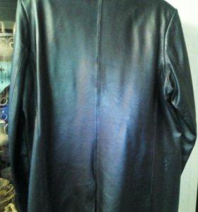 Кожаный пиджак 5хl