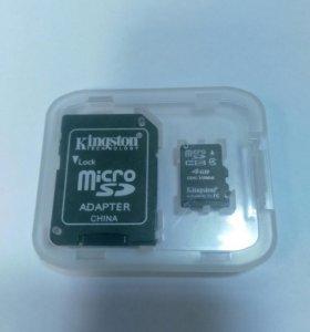 Micro sd 4gb + sd adapter