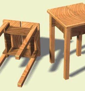 Прикроватные тумбы, столы и табуреты